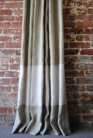 Beige And Gray Curtains Wide Striped Curtains Foter