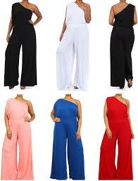 one jumpsuit plus size plus size one shoulder wide leg palazzo suit dress jumpsuit