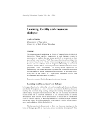 learning identity and classroom dialogue