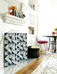 how to cover your fireplace with wood brick modern ideas screen
