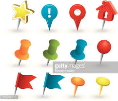 map tacks tacks and pins vector getty images