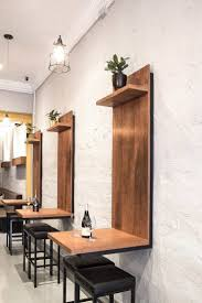 best 20 cafe wall ideas on pinterest cafe shop design coffee wall mounted table so cool for a small kitchen or office