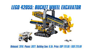 technic pieces technic 42055 bucket wheel excavator unboxing parts list