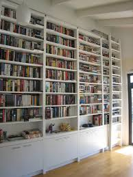 Home Library Ideas by Library Ladder Ikea And Bookcase Wall Unit For Your Decorating