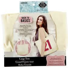 back to basics canvas tote bag large