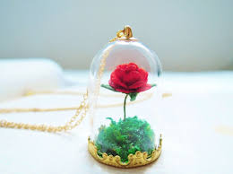 rose glass necklace images Red rose glass tube necklace the little by aprilsummergarden jpg