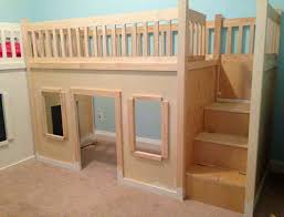 Free Loft Bed Plans With Slide by Best 25 Playhouse Bed Ideas On Pinterest Kura Bed Kura Bed