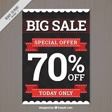 Sales Flyer Template modern big sale flyer template vector free