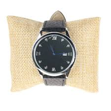 Linen bracelet bangle watch pillow holder for jewelry watches