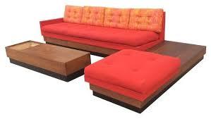 adrian pearsall l shape platform sofa u0026 table set modern