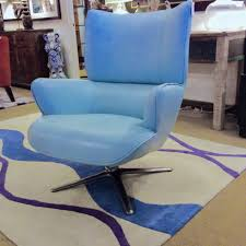 blue leather swivel chair blue u2013 ballard consignment