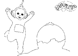 teletubbies coloring pages imagesteletubbies 04gif picture