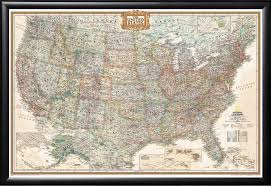 us map framed framed executive us push pin travel map 24x36 in matte