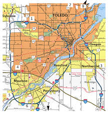 Map Oh Ohio by Toledo Map Online Map