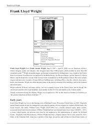 frank lloyd wright biography pdf frank lloyd wright pdf