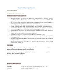 Asp Net Sample Resume sample resume for sharepoint developer free resume example and