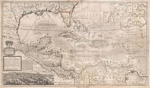 Caribbean Maps by File 1732 Herman Moll Map Of The West Indies Florida Mexico And