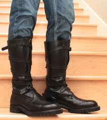 s boots style mens black leather dehner tanker boots us size 10