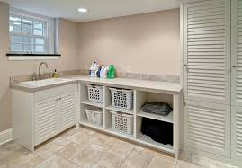 Louvered Kitchen Cabinets Laundry With Louvered Doors Traditional Laundry Room