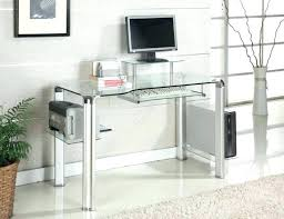 small clear glass table l clear plastic desk small glass computer table l shaped condo office