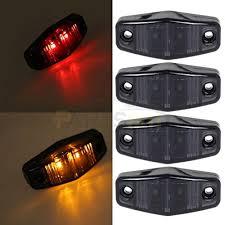 red led marker lights partsam 2 amber 2 red surface mount universal led marker light