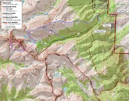 Bent Creek Trail Map 14ers Com U2022 Humboldt Peak Route Description East Ridge
