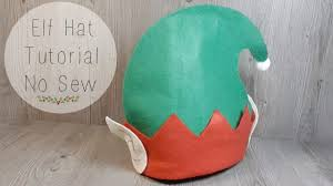 easy elf hat tutorial no sew youtube