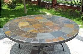 Tiled Patio Table Design 125 160cm Slate Patio Dining Table Tiled Mosaic