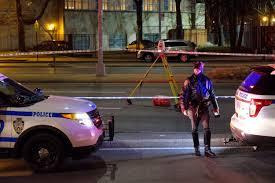 man walking across busy brooklyn street fatally struck by 2 cars