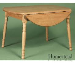 Wood Drop Leaf Table Round Country Leg Drop Leaf Dining Table Homestead Furniture