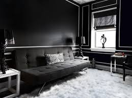 room with black walls black lacquered walls contemporary living room haus interior