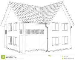 house outline sketch outline house on the white background eps stock vector