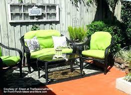 green wicker furniture wicker cushion set red and yellow stripe