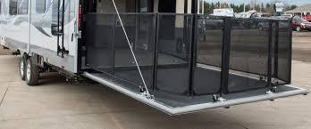 toy hauler ramp door party deck