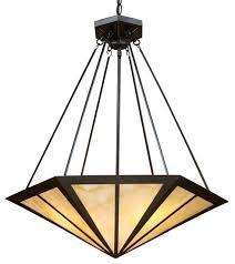 Alabaster Pendant Lights by Elk Lighting 70107 3 Oak Park Mission Pendant Light In Tiffany