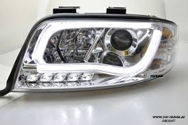 audi a6 headlights sw ltube headlights audi a6 4b fl 01 04 led lighttube chrome