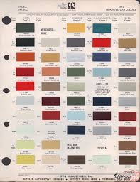 mg paint chart color reference