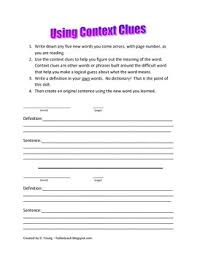 using context clues worksheets worksheets