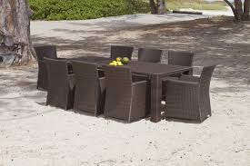 outdoor rattan round table and 8 chairs 7 piece outdoor dining