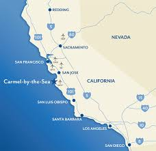 the sea map getting to around by the sea california