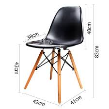 2 x retro replica dsw abs seat beech wooden legs dining chair