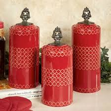 pottery canisters kitchen canister set for kitchen kenangorgun com
