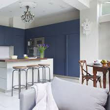 blue kitchen cabinets grey walls navy kitchen ideas to add an element of rich colour and