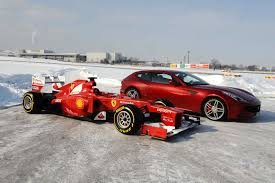 formula 3 vs formula 1 the 2012 ferrari f2012 663 formula 1 car with the ferrari ff all
