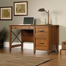 Computer Desk With File Cabinet Sauder Carson Forge Desk Washington Cherry Walmart
