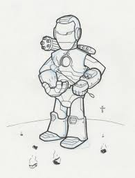 iron man doodle a day