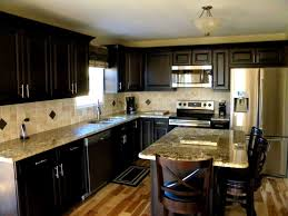Kitchen Cabinets Lights by Bathroom Dark Cabinets With Light Granite Countertops Splendid