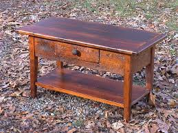 Barnwood Coffee Table Frazzleberries Small Barnwood Coffee Table With Drawer And Shelf
