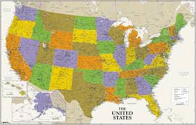 Usa Wall Map by Political Archives Page 3 Of 7 Maps Com Solutions