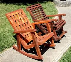 Outdoor Wood Rocking Chair Wooden Lighthouse Rocking Chair With Comfortable Deep Seat